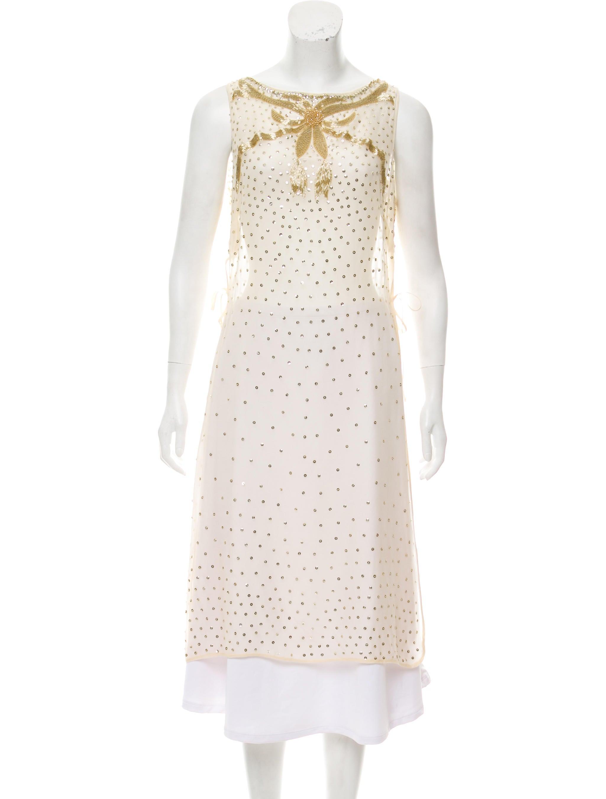 L'Wren Scott Sequin Embellished Sleeveless Tunic Cheap Best Buy Cheap Eastbay huSbRBTJny