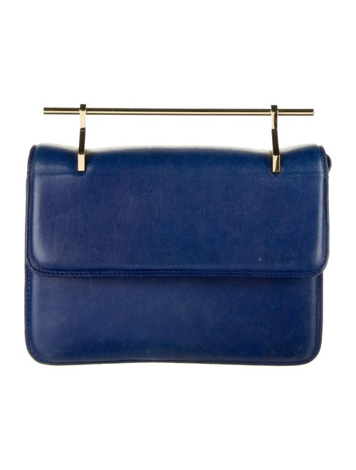 M2Malletier Leather Crossbody Bag Blue