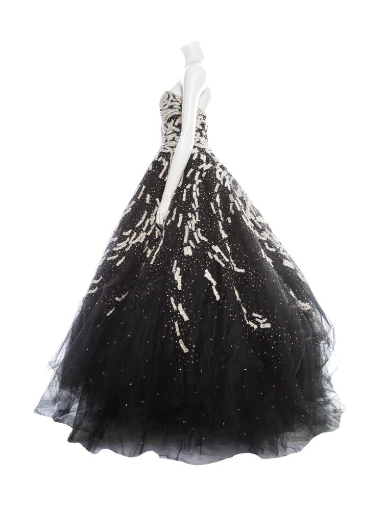 Marchesa couture embroidered gown clothing mac