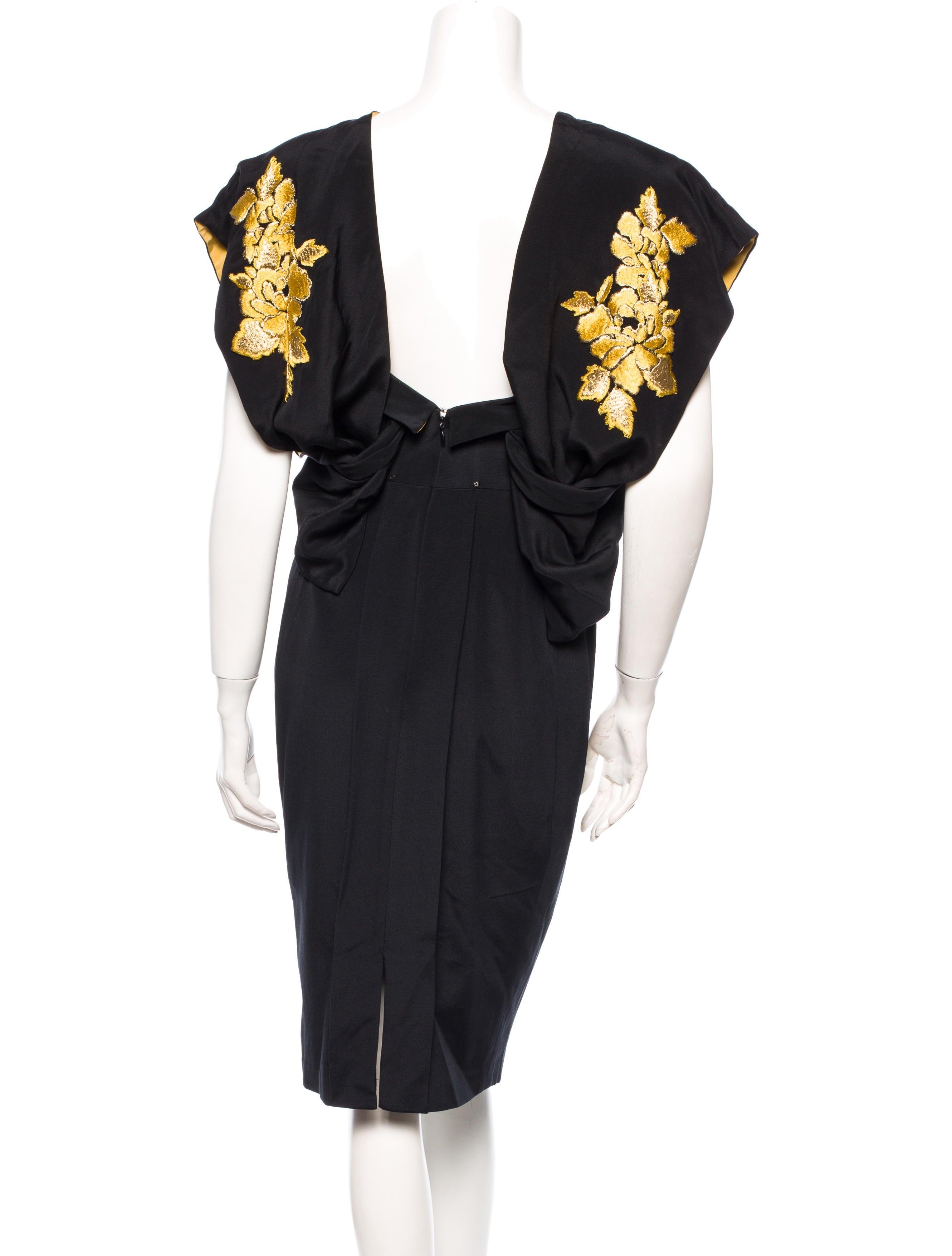 Marchesa silk dress clothing mac the realreal
