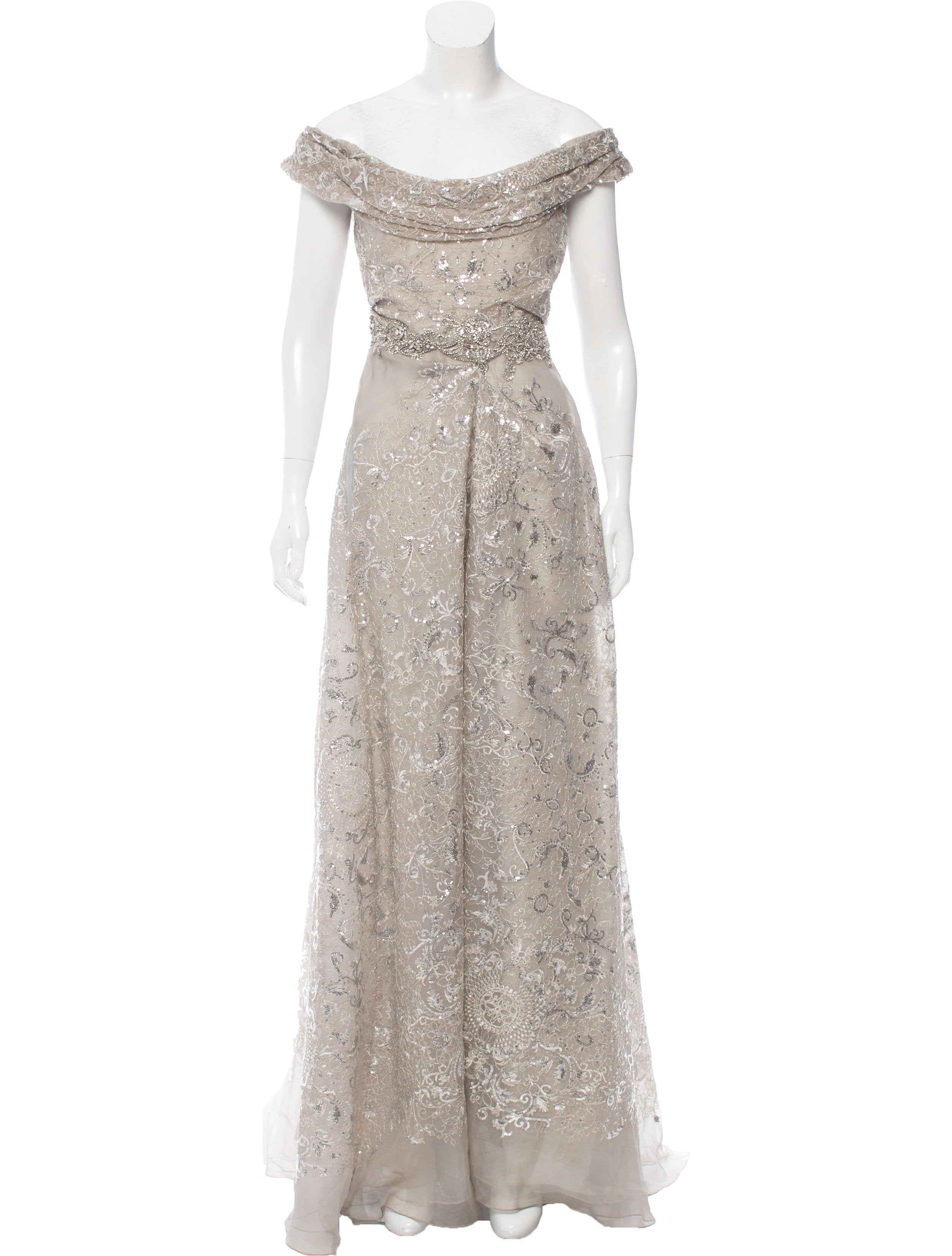 Marchesa Silk Embellished Gown w/ Tags - Clothing - MAC20714 | The ...