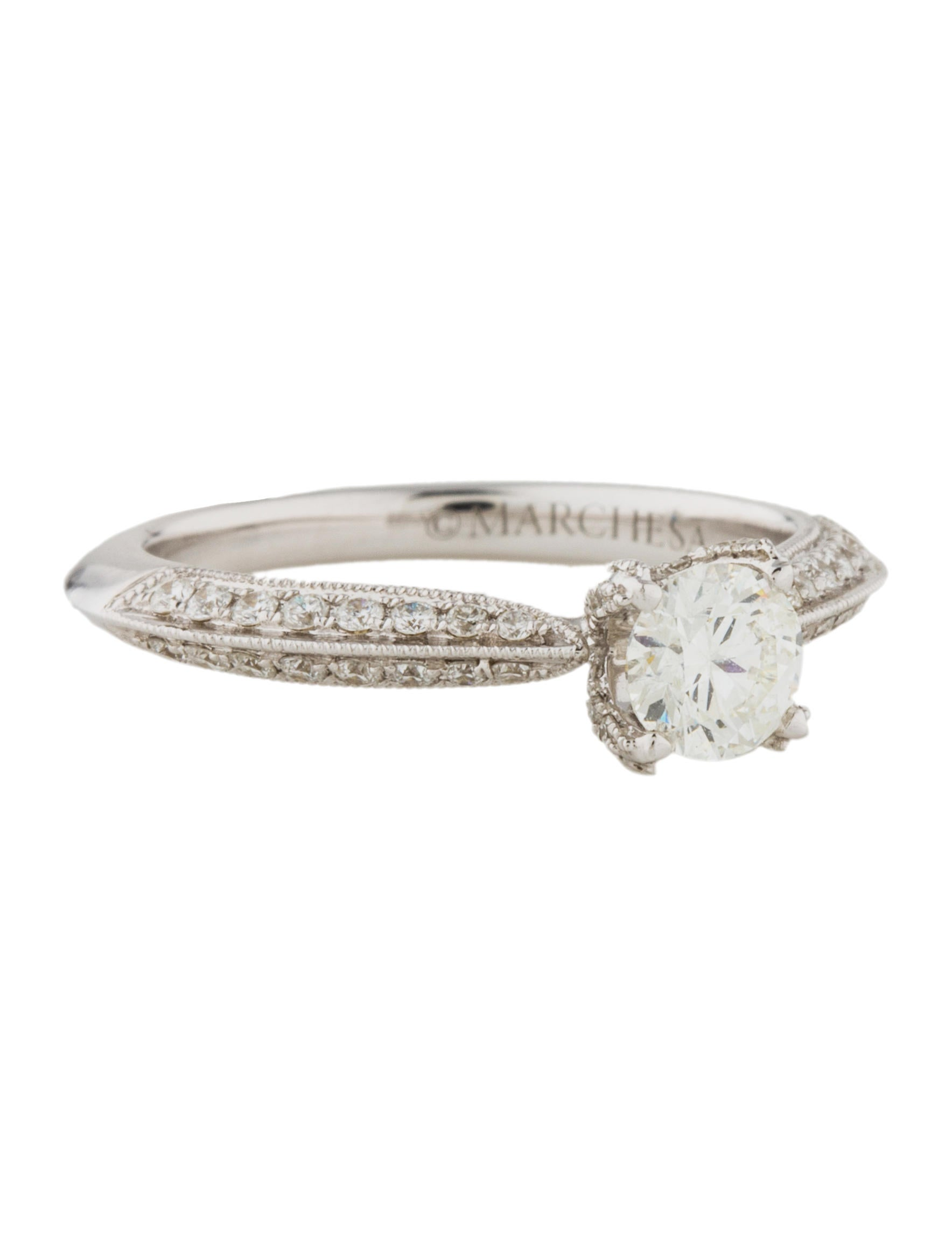 Marchesa Diamond Engagement Ring Rings MAC20986 The RealReal