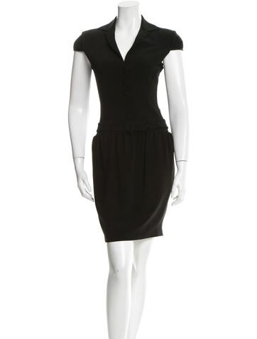 Martin Grant Notch-Lapel Belted Dress