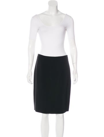 martin grant gathered pencil skirt suit clothing