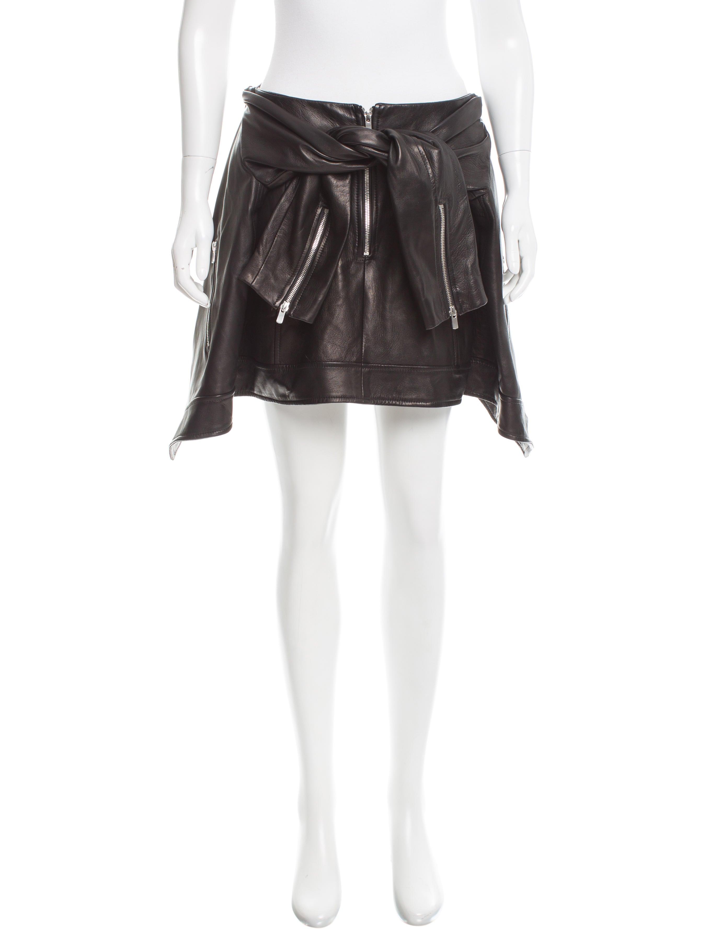 magda butrym asymmetrical leather skirt w tags clothing