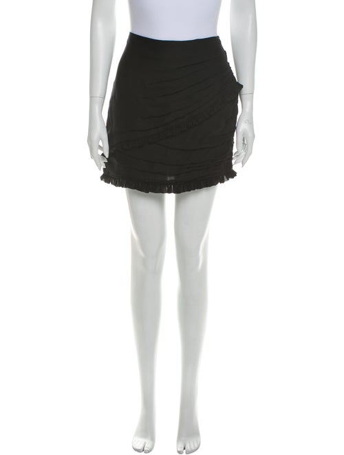 Magda Butrym Silk Mini Skirt Black