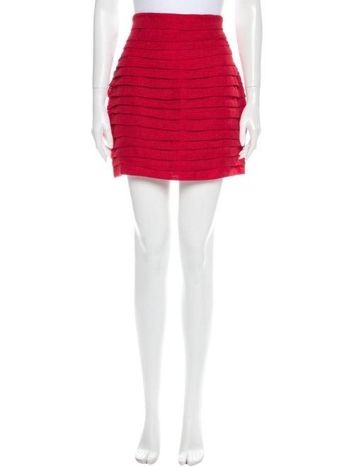 Magda Butrym Linen Mini Skirt w/ Tags Red