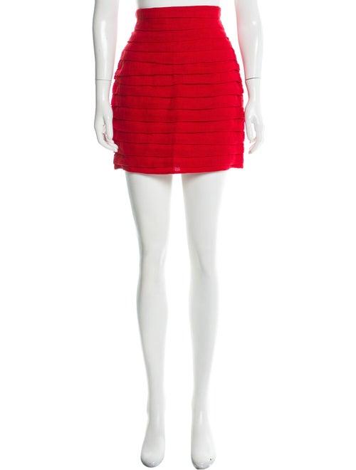 Magda Butrym Linen Mini Skirt Red