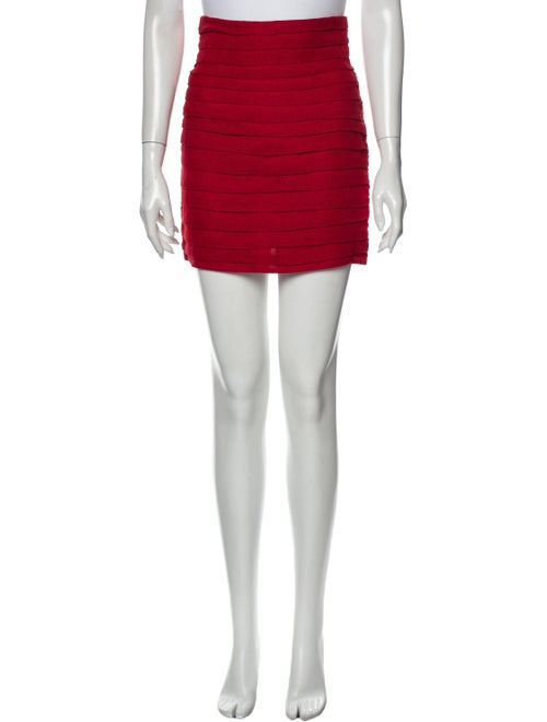 Magda Butrym Linen Mini Skirt Red