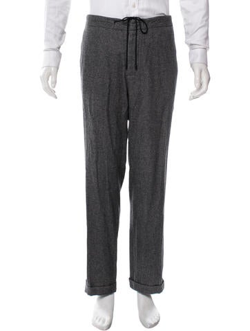 Maison Martin Margiela Wool Straight-Leg Pants None