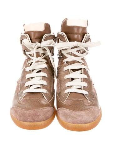 Maison Martin Margiela Suede Round-Toe Sneakers