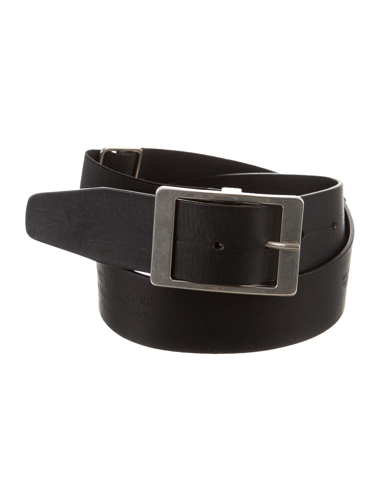 maison martin margiela leather stretch belt accessories