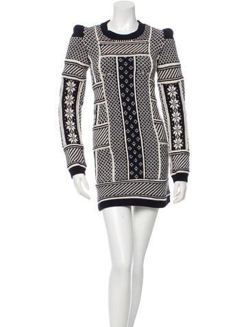 Maison Martin Margiela Wool Patterned Dress w/ Tags None