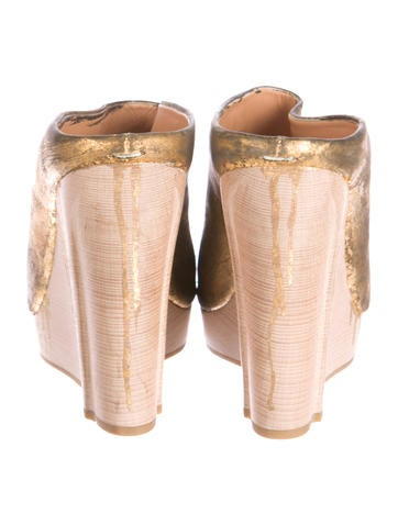Maison Martin Margiela Metallic Painted Clogs