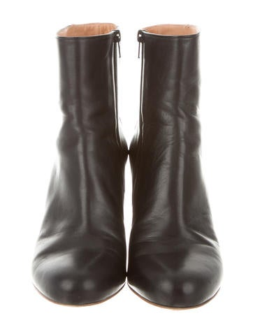 Maison Martin Margiela Leather Colorblock Ankle Boots