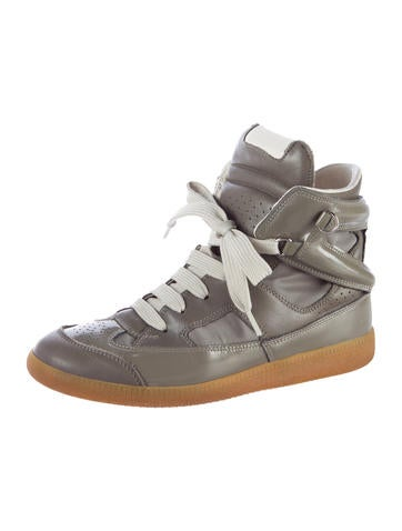 Maison Martin Margiela Leather High-Top Sneakers
