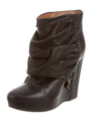 maison martin margiela wedge ankle boots shoes