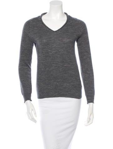 Maison Martin Margiela Wool-Blend V-Neck Sweater None