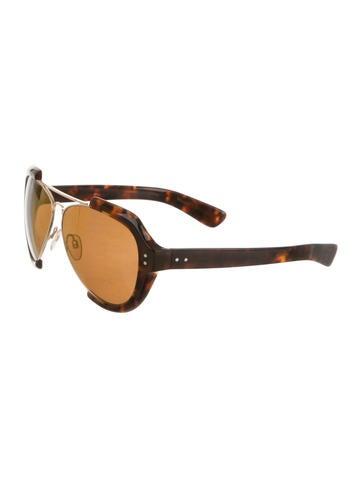 Maison martin margiela tortoiseshell aviator sunglasses for Martin margiela glasses