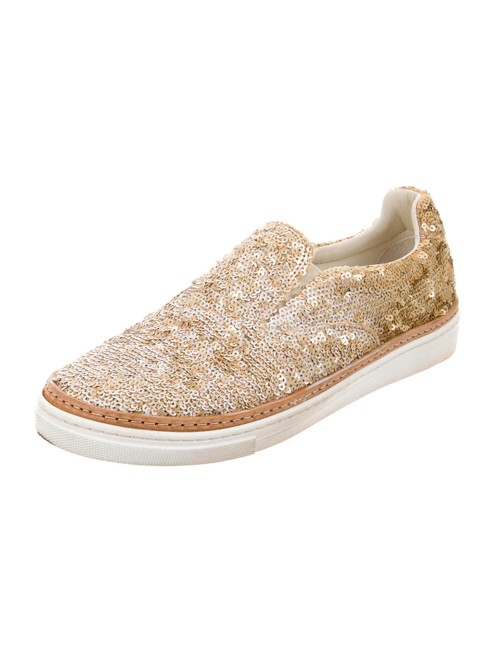 maison martin margiela sequin embellished slip on sneakers
