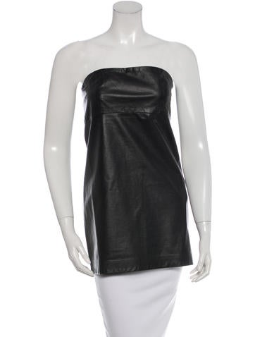Maison Martin Margiela Leather Strapless Top None