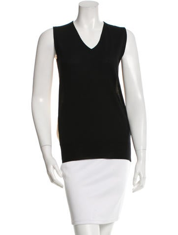 Maison Martin Margiela Chiffon Back Sleeveless Top w/ Tags None