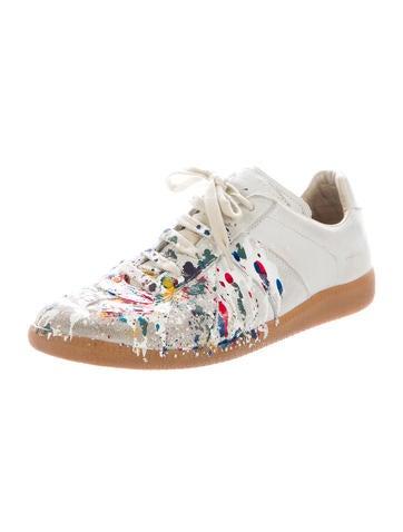 Maison Martin Margiela Paint Splatter Repulica Sneakers