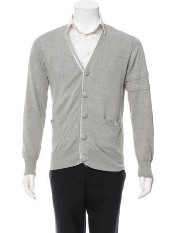 Maison Martin Margiela Long Sleeve V-Neck Cardigan None