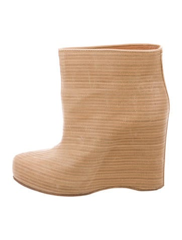 Maison Martin Margiela Round-Toe Wedge Booties