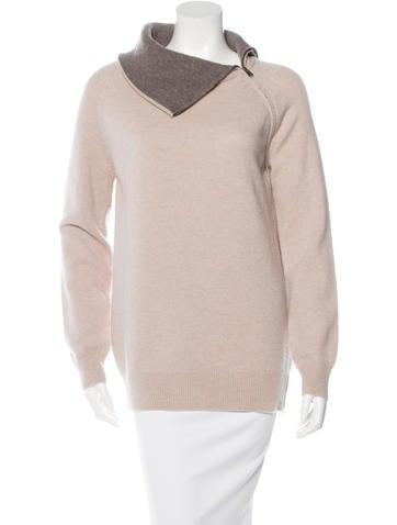 Maison Martin Margiela Wool Zip-Accented Sweater None