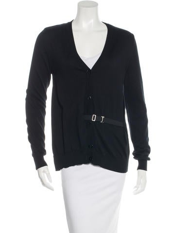 Maison Martin Margiela Belted Button-Up Cardigan None