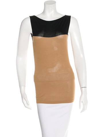 Maison Martin Margiela Rib Knit Sleeveless Top None
