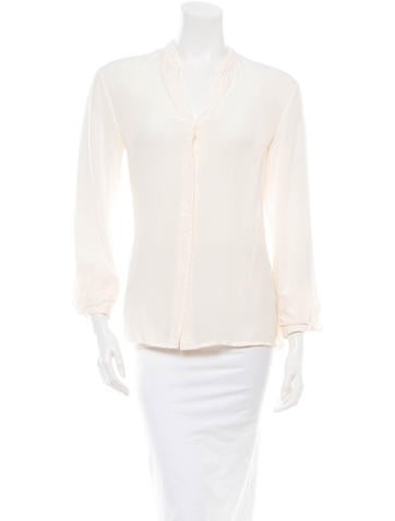 Maison Martin Margiela Silk Blouse None