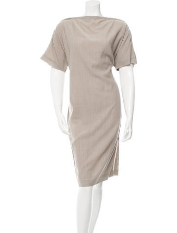 Maison Martin Margiela Wool Midi Dress None