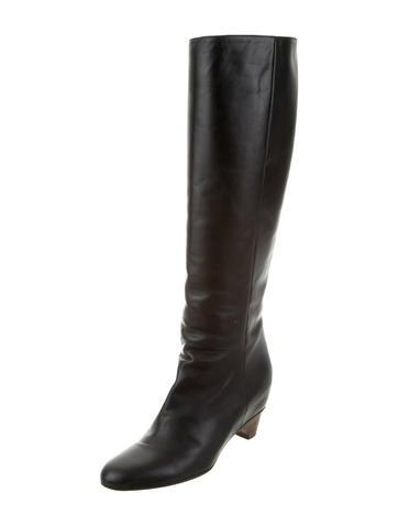 maison martin margiela knee high leather boots shoes