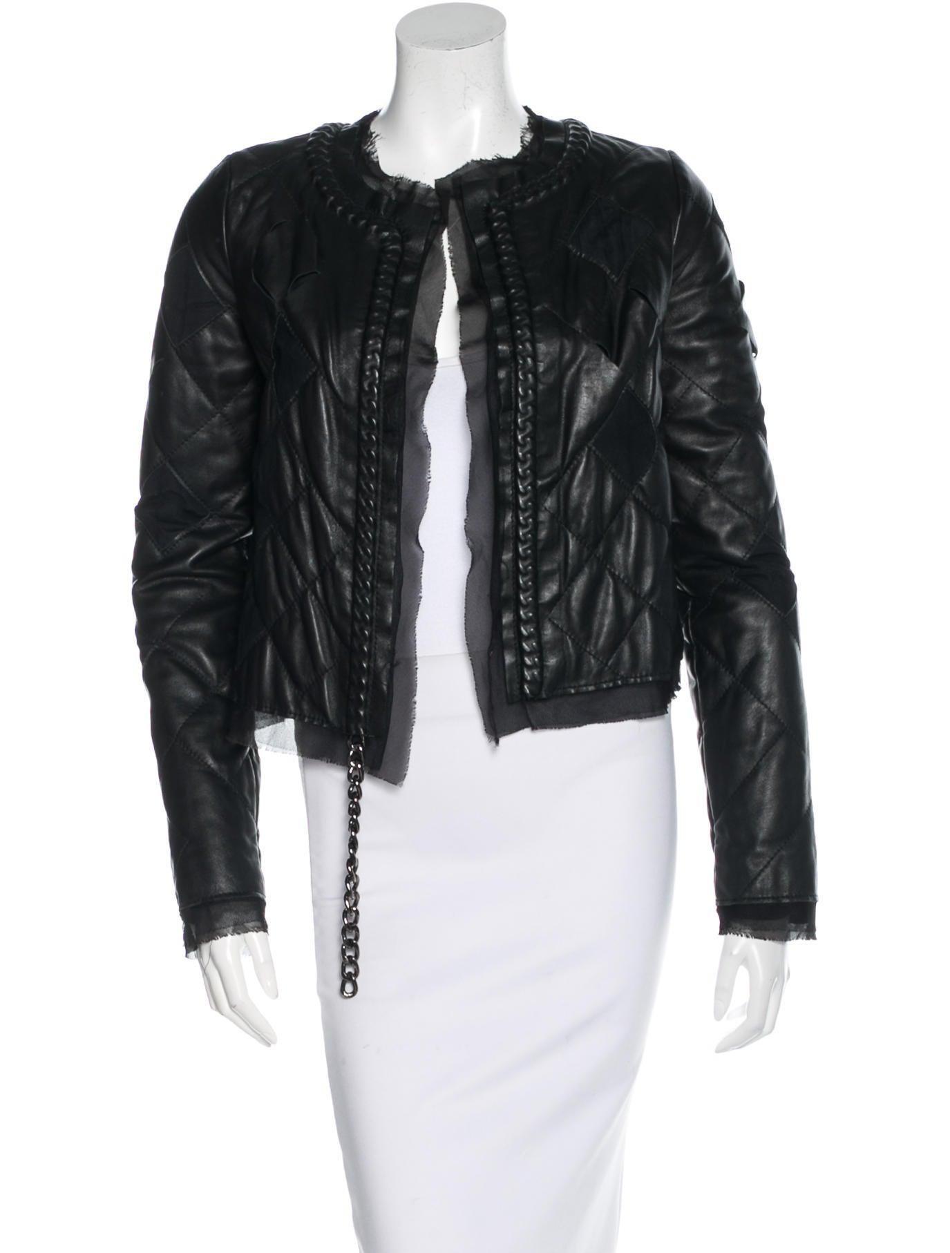 Maison martin margiela leather jacket