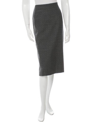 Maison Martin Margiela Printed Wool Skirt None