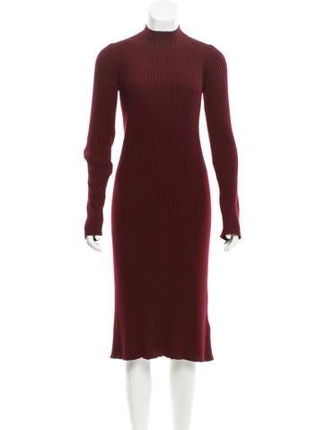 Maison Martin Margiela Rib Knit Wool Dress None