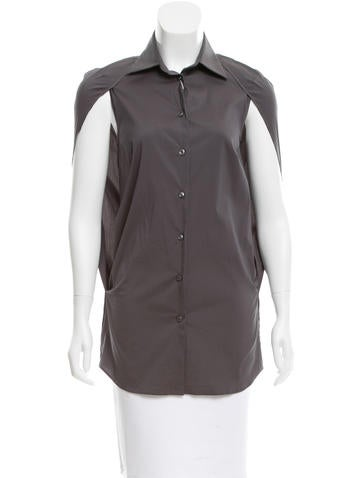Maison Martin Margiela Cap Sleeve Button-Up Top w/ Tags