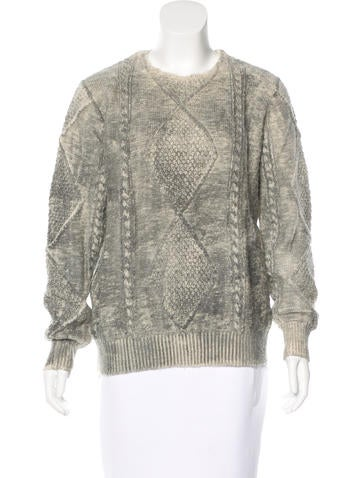 Maison Martin Margiela Cable Knit Wool Sweater None