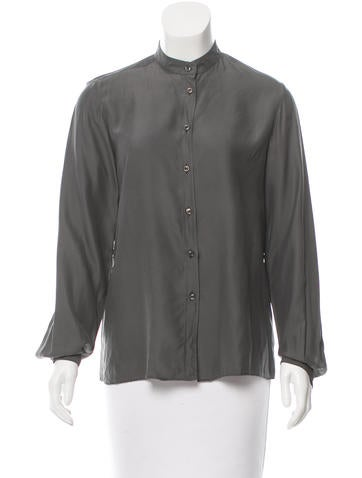 Maison Martin Margiela Silk Button-Up Top None