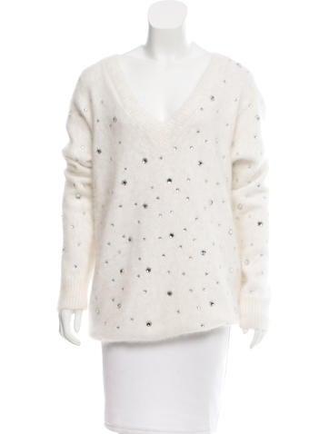 Maison Martin Margiela Embellished Angora Sweater w/ Tags