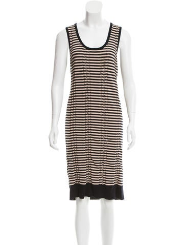 Maison Martin Margiela Striped Sweater Dress None
