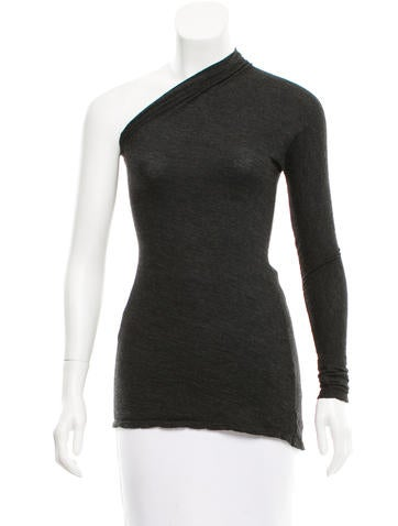 Maison Martin Margiela Wool One-Sleeve Top None
