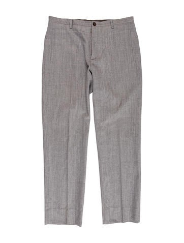 Maison Martin Margiela Wool Tapered Trousers None