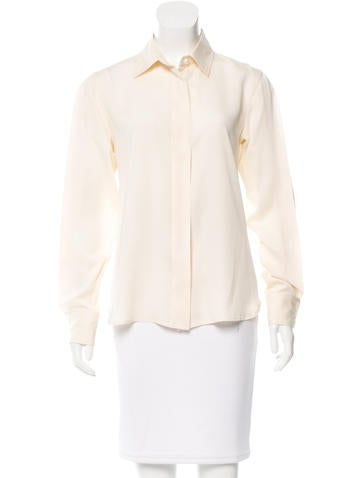 Maison Martin Margiela Sheer-Accented Button-Up Top None