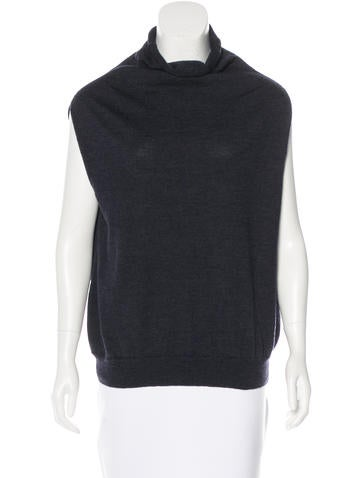 Maison Martin Margiela Virgin Wool Sleeveless Turtleneck None