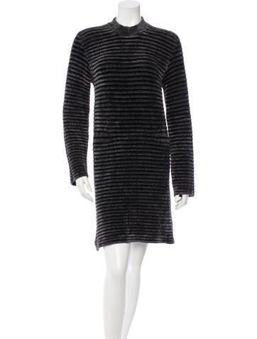 Maison Martin Margiela Rib Knit Mini Dress None