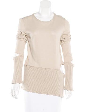 Maison Martin Margiela Cold Shoulder Cutout-Accented Sweater None