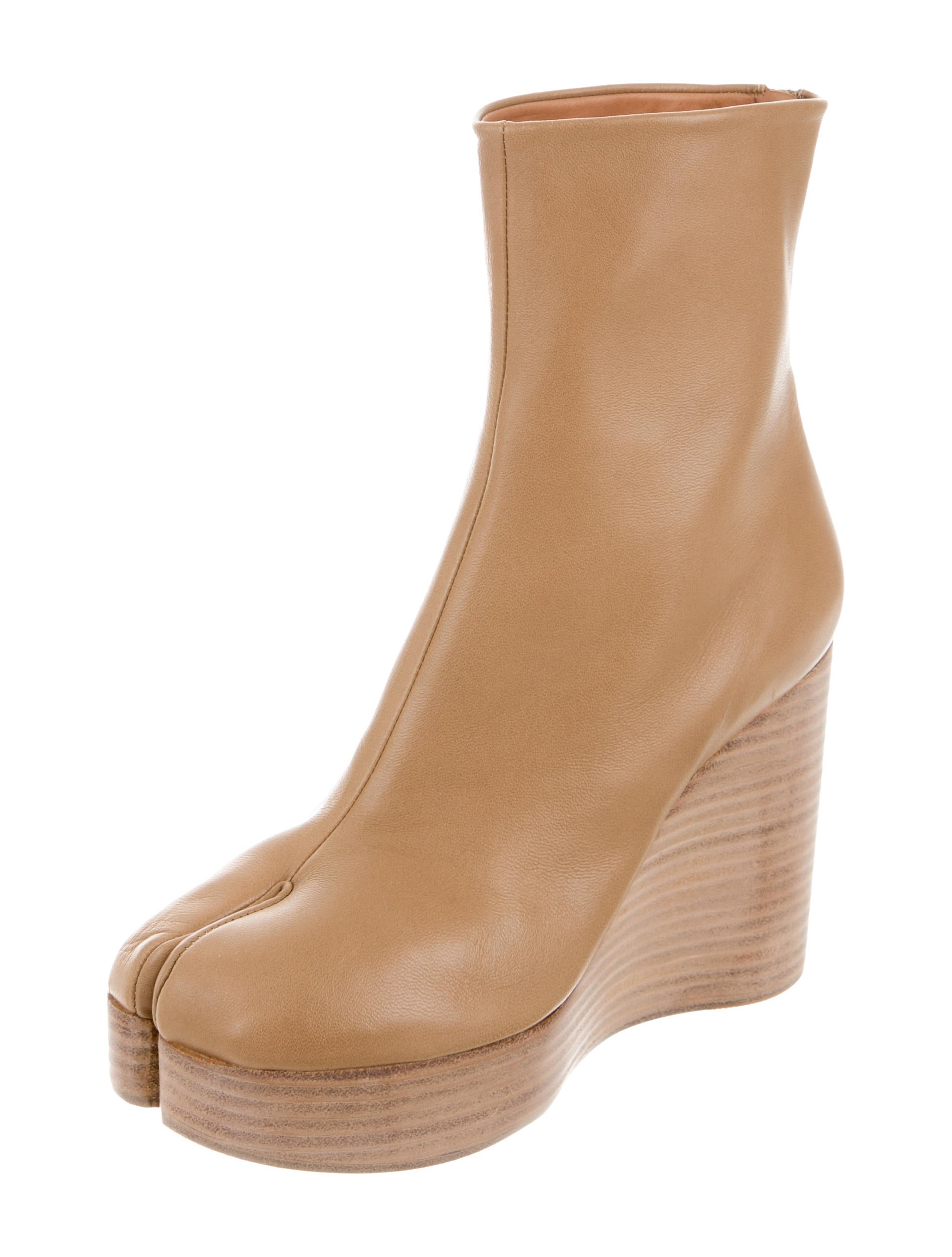 new arrival sale online discount how much Maison Margiela Leather Wedge Booties w/ Tags uQRwqScUyS